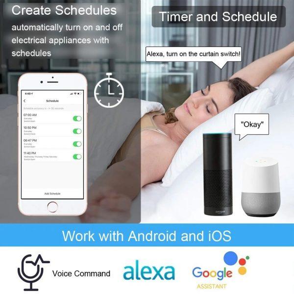 Ổ cắm wifi tuya smartlife đo điện tiêu thụ